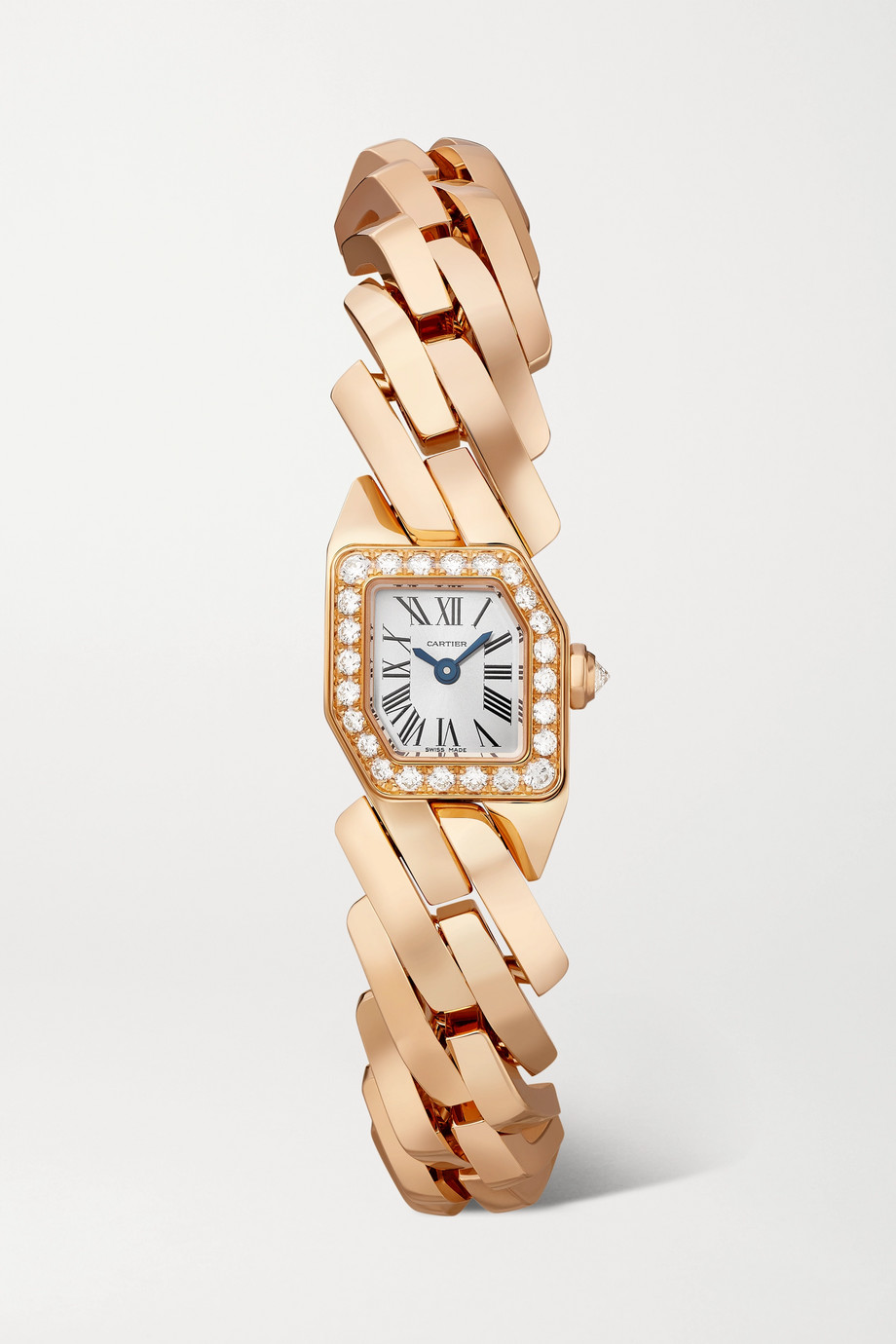 Cartier Maillon de Cartier 16mm 18-karat rose gold and diamond watch