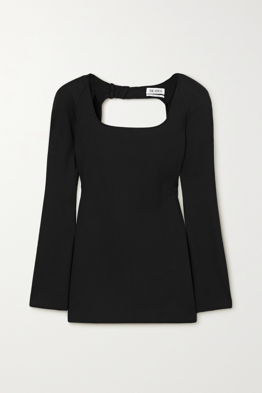 The Attico Liz open-back buckled stretch-ponte mini dress