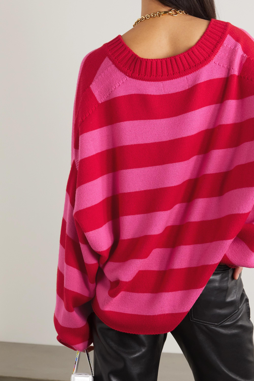 The Attico Striped merino wool cardigan