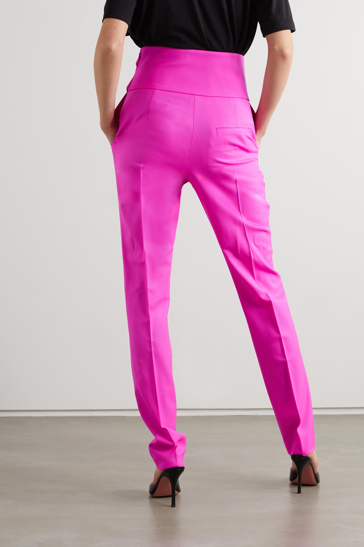 The Attico Pleated stretch-wool slim-leg pants