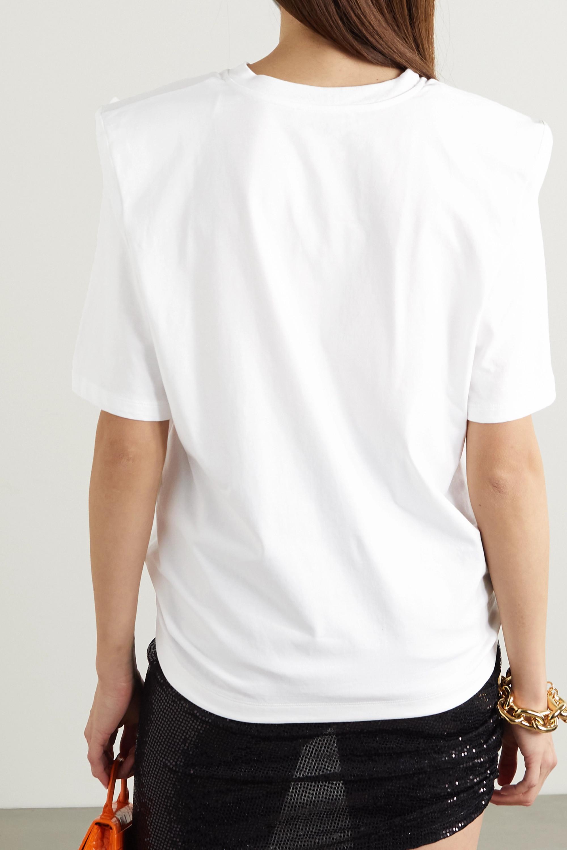 The Attico Bella cotton-jersey T-shirt