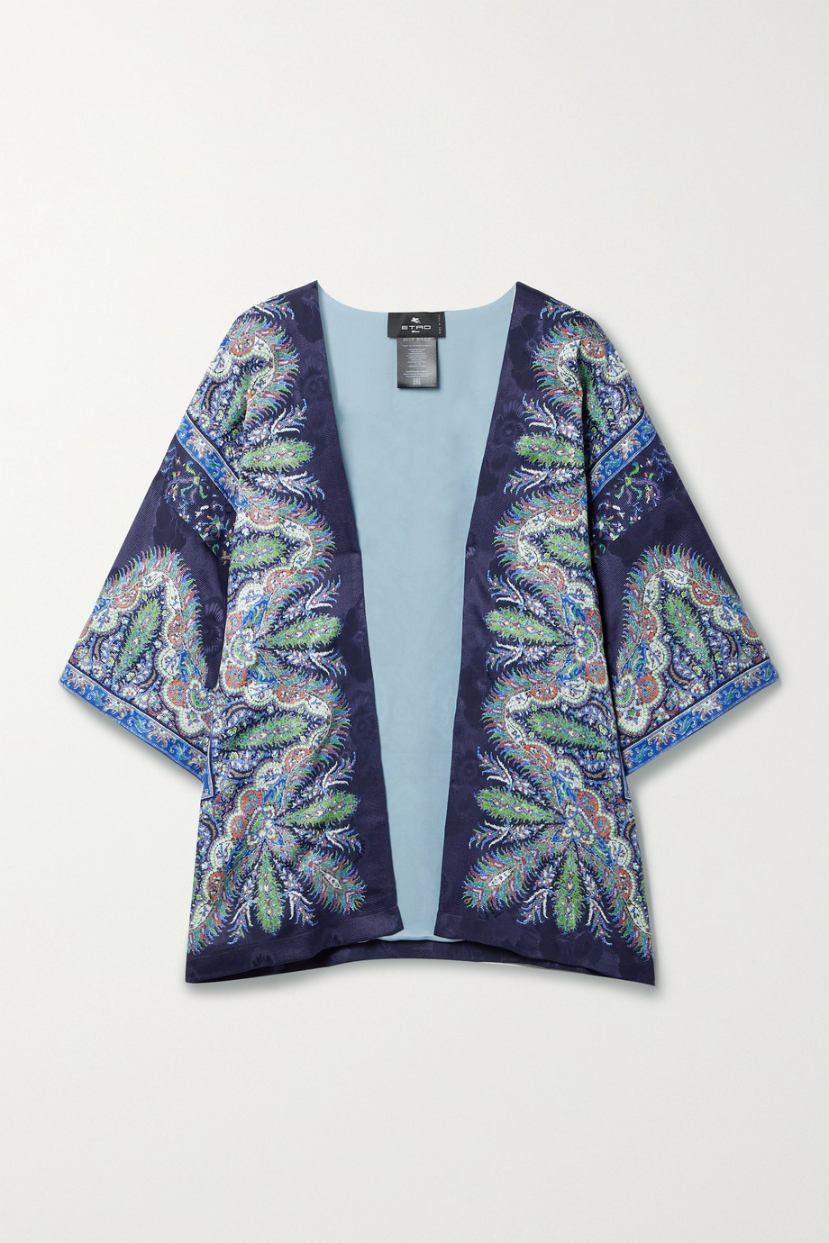 Etro Kesa paisley-print silk-satin jacquard wrap