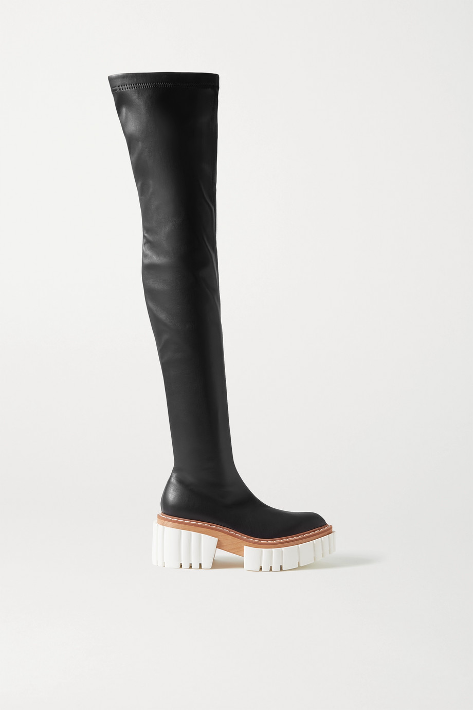 Stella McCartney Emilie vegetarian leather platform over-the-knee boots