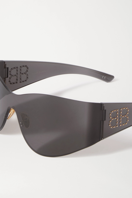 Balenciaga Cat-eye studded acetate sunglasses