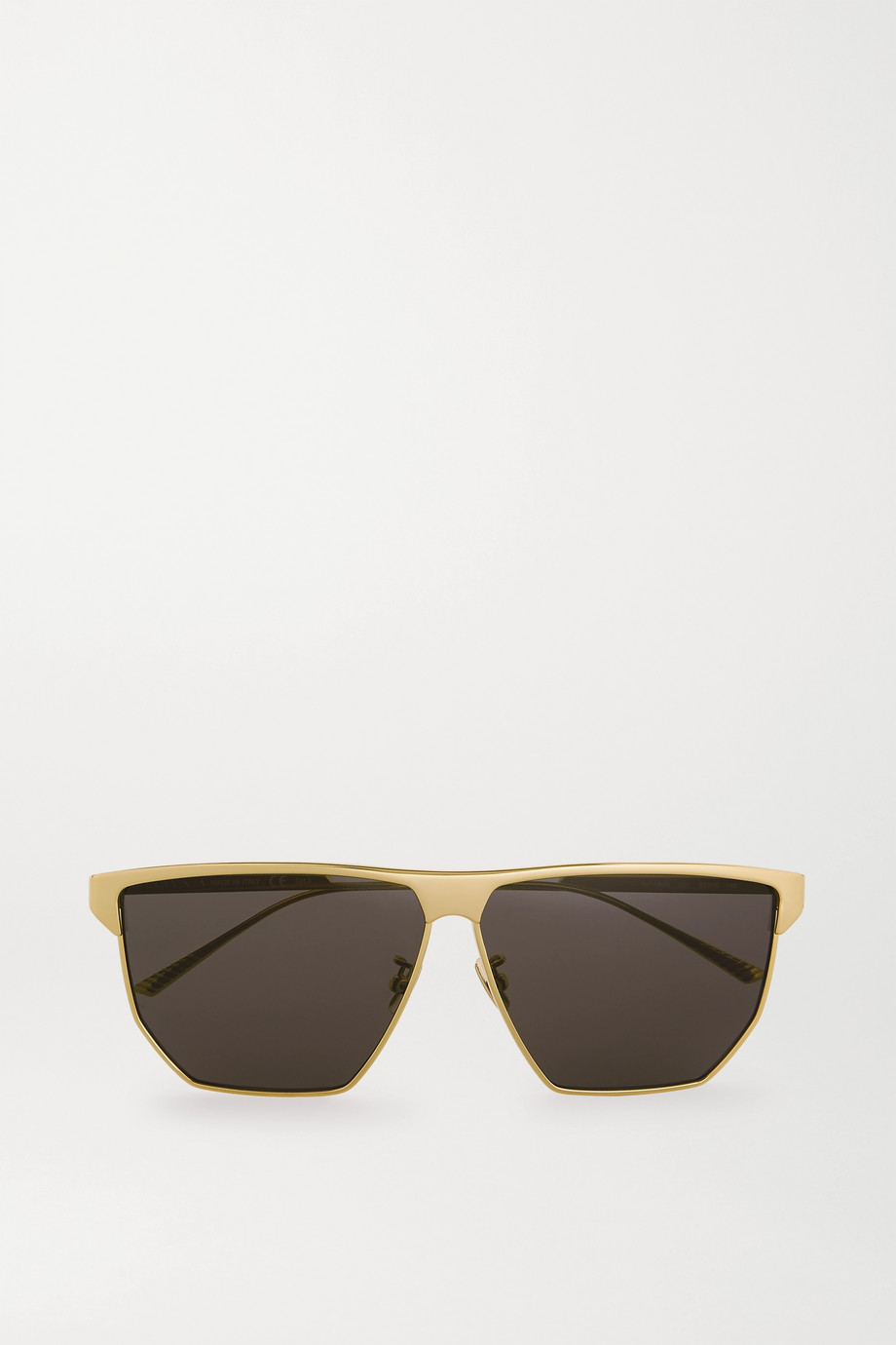 Bottega Veneta D-frame gold-tone metal sunglasses