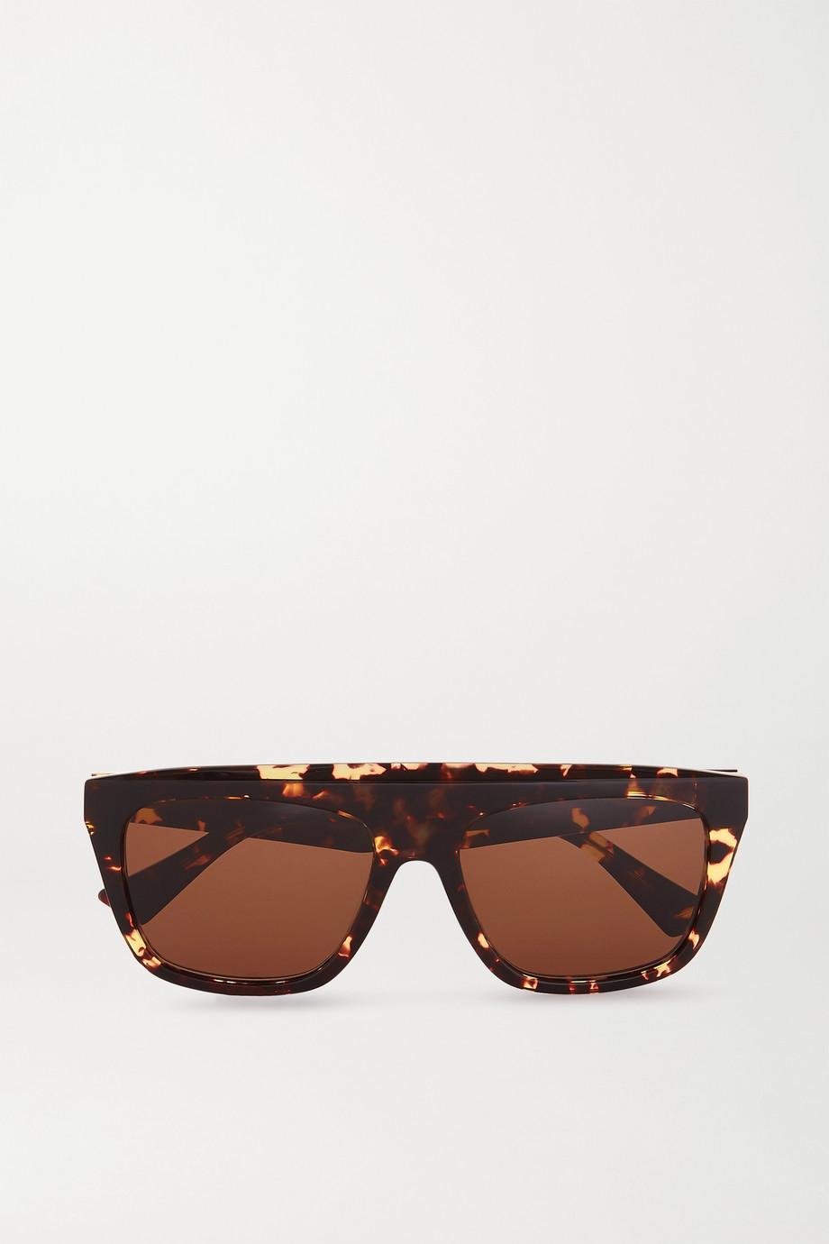 Bottega Veneta D-frame tortoiseshell acetate sunglasses