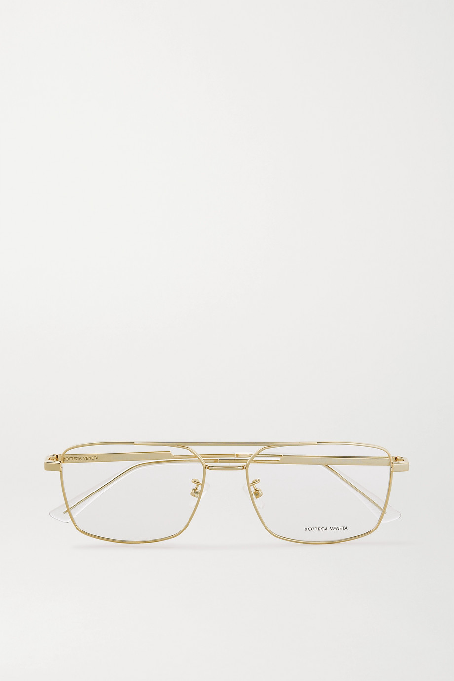 Bottega Veneta Aviator-style gold-tone optical glasses