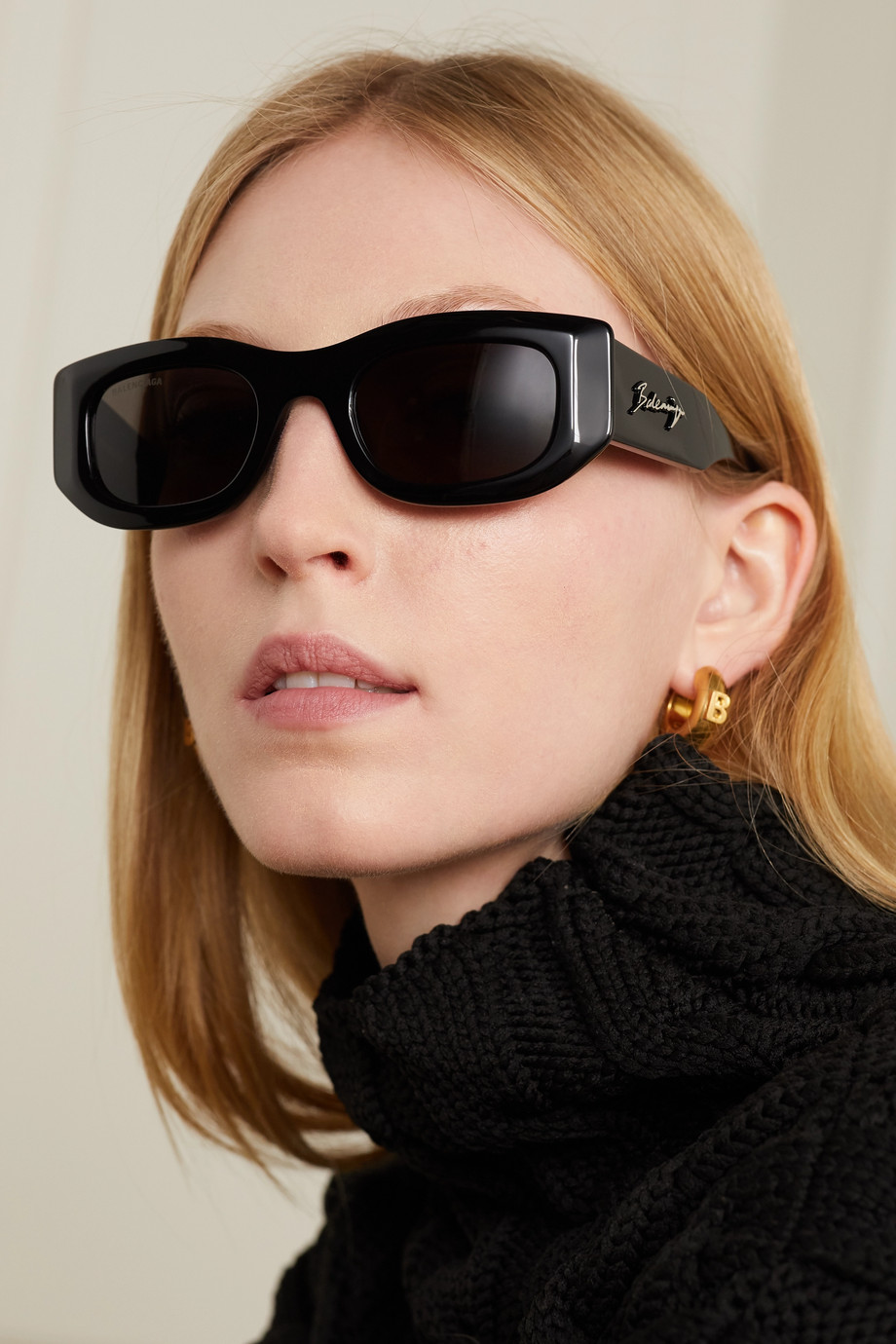 Balenciaga Sonnenbrille mit eckigem Rahmen aus Azetat