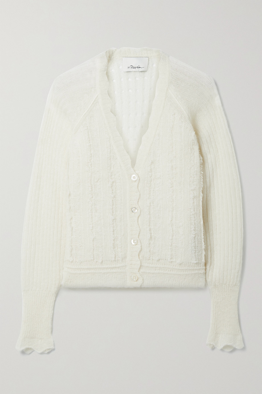 3.1 Phillip Lim Pointelle-knit alpaca-blend cardigan