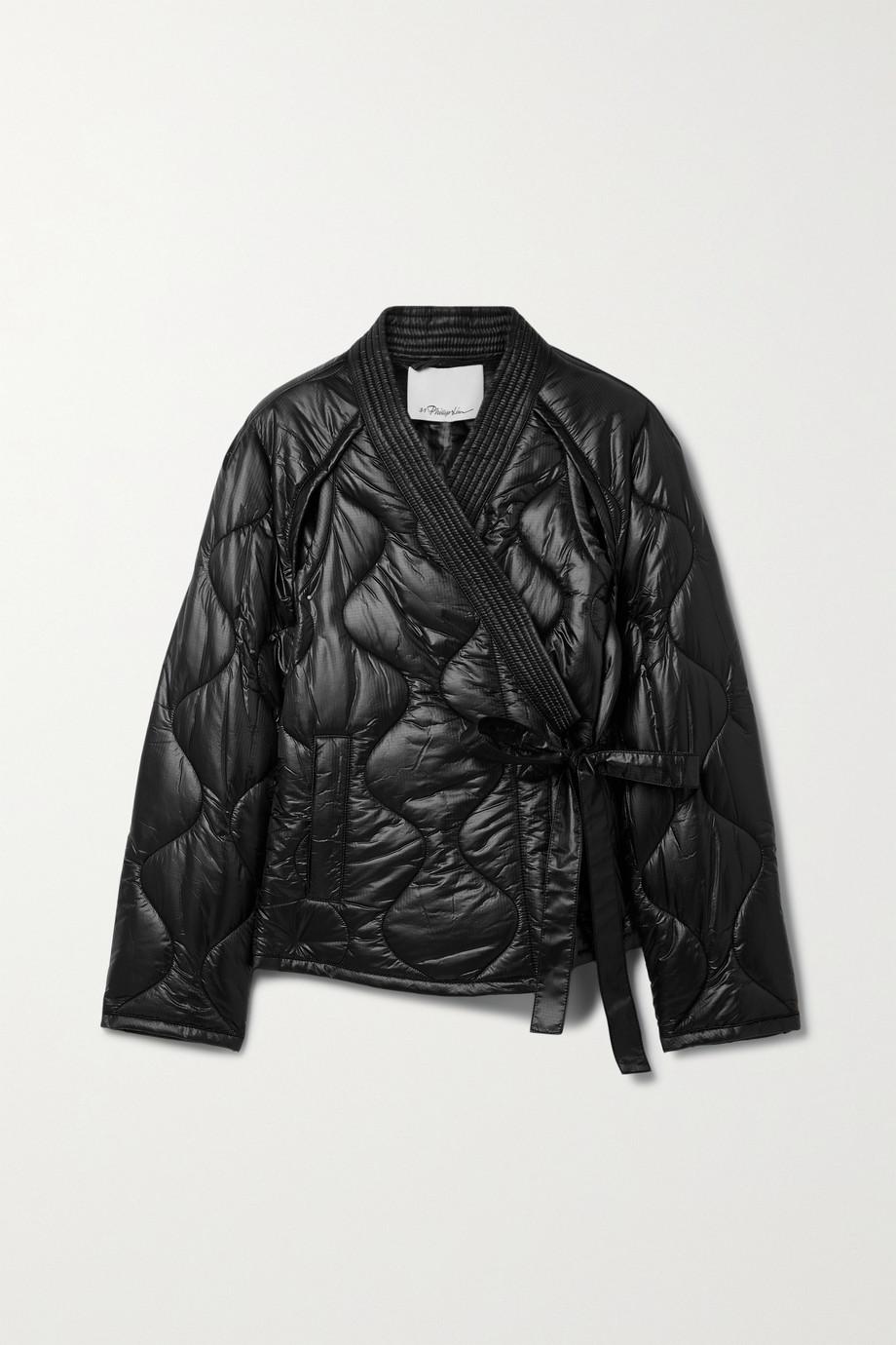 3.1 Phillip Lim 配腰带绗缝格子布外套