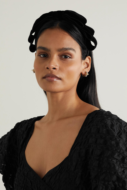 Jennifer Behr Katya bow-embellished velvet headband