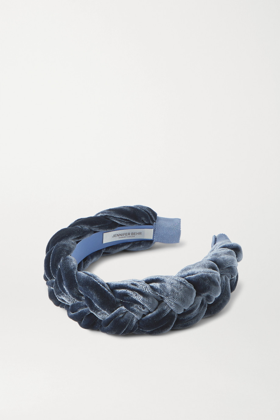 Jennifer Behr Lorelei braided velvet headband