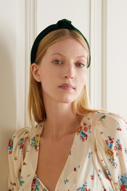 Jennifer Behr Rachael knotted velvet headband