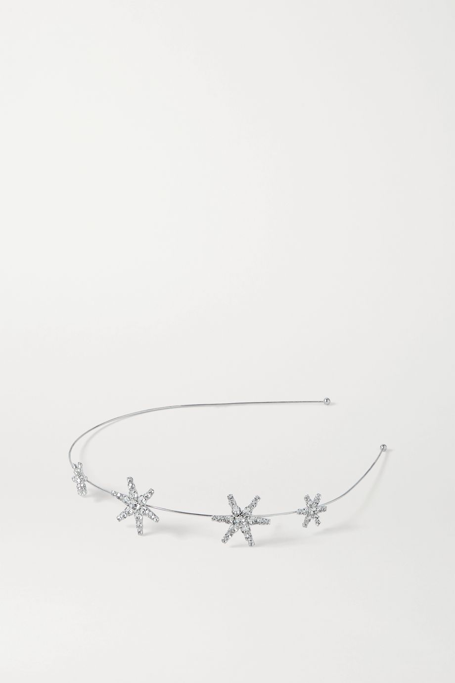 Jennifer Behr Hila rhodium-plated Swarovski crystal headband