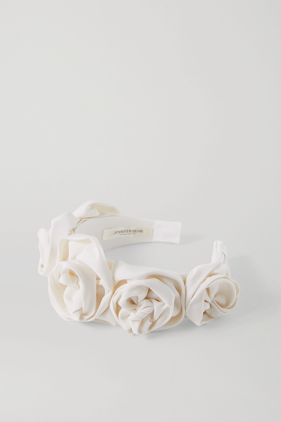 Jennifer Behr Rosette silk-faille headband