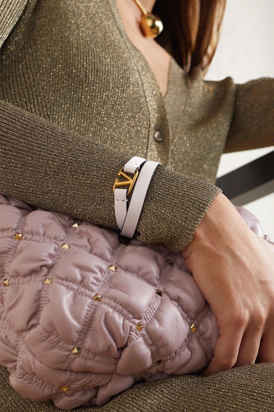 Valentino Bracelet en cuir VLOGO Valentino Garavani