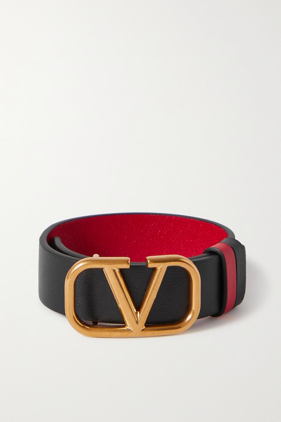Valentino Bracelet réversible en cuir VLOGO Valentino Garavani
