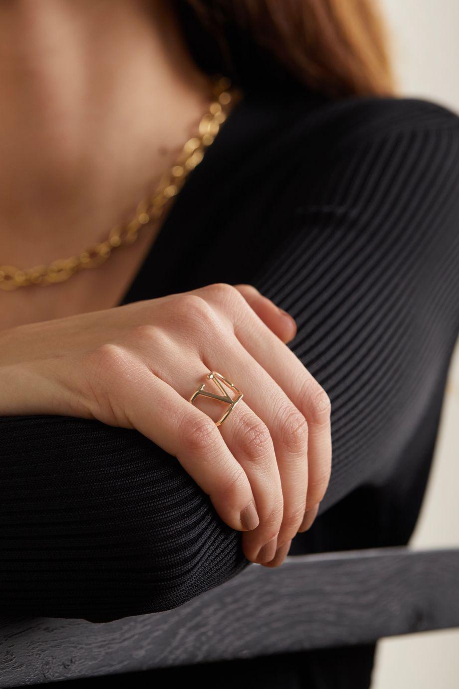 Valentino Valentino Garavani VLOGO gold-tone ring