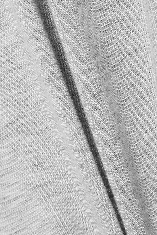 Norma Kamali Draped mélange stretch-modal turtleneck top