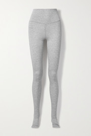 Norma Kamali Mélange stretch-modal stirrup leggings