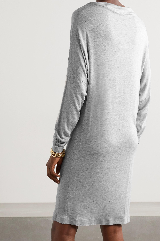 Norma Kamali Convertible mélange stretch-modal mini dress