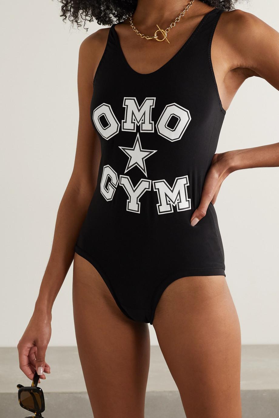 Norma Kamali OMO printed stretch-jersey bodysuit