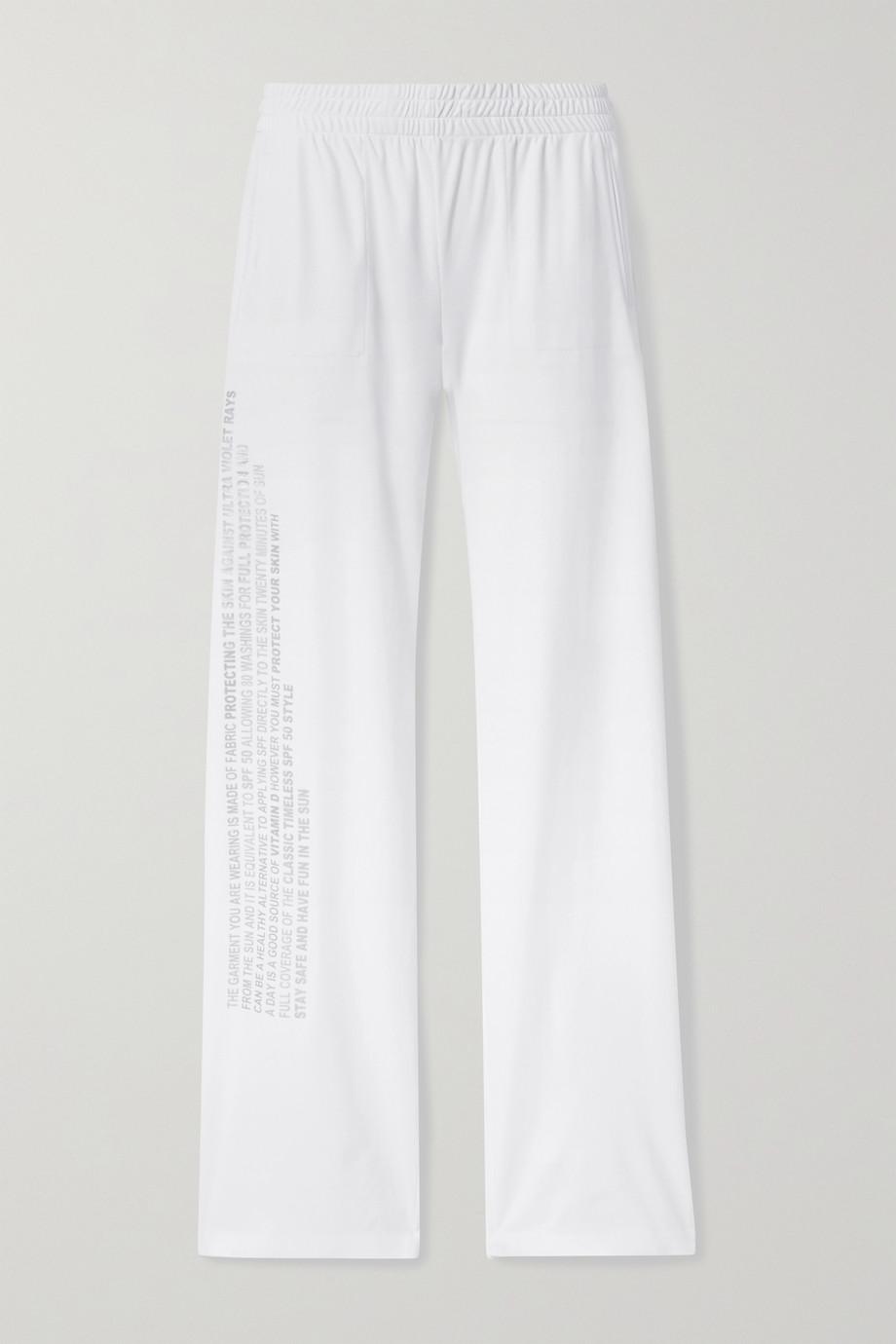 Norma Kamali Printed jersey track pants