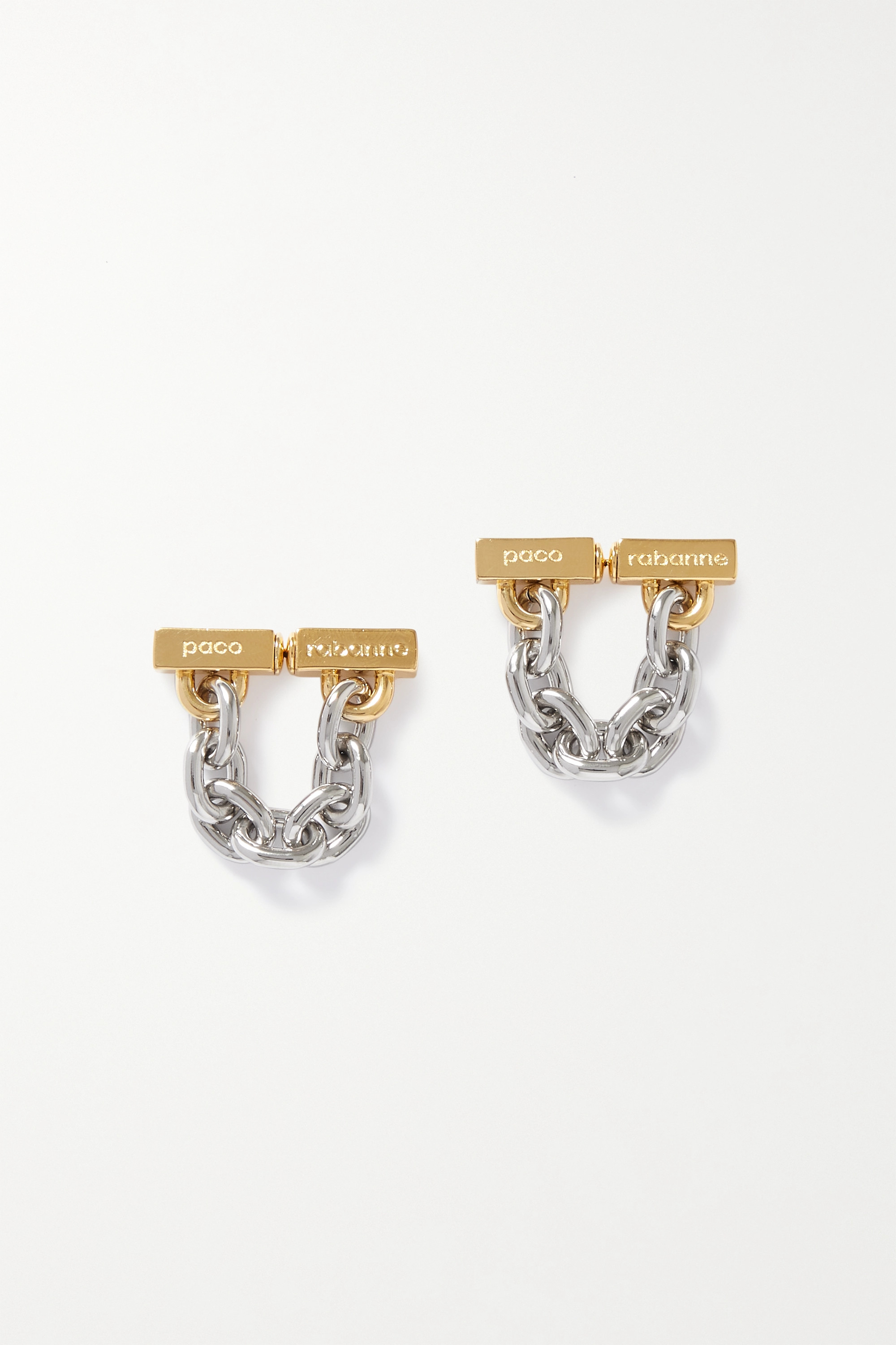 Paco Rabanne Gold- and silver-tone earrings