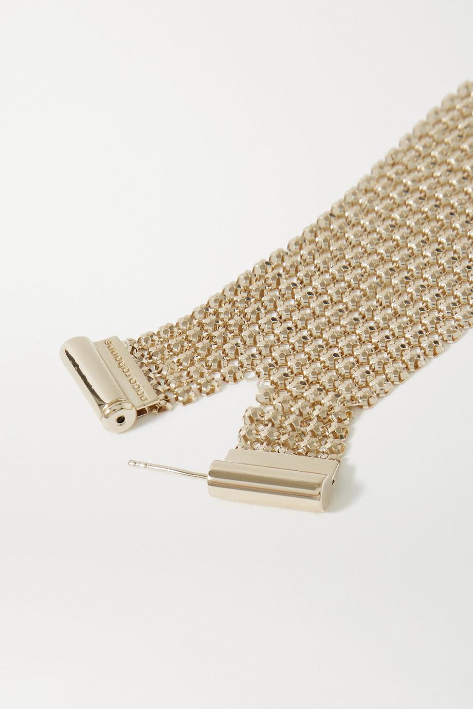 Paco Rabanne Gold-tone chainmail earring