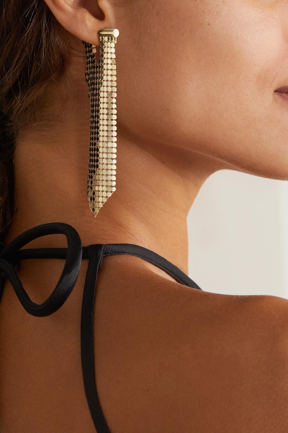 Paco Rabanne Gold-tone chainmail single earring