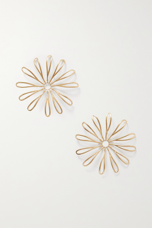 Jacquemus Les Fleurs gold-tone earrings