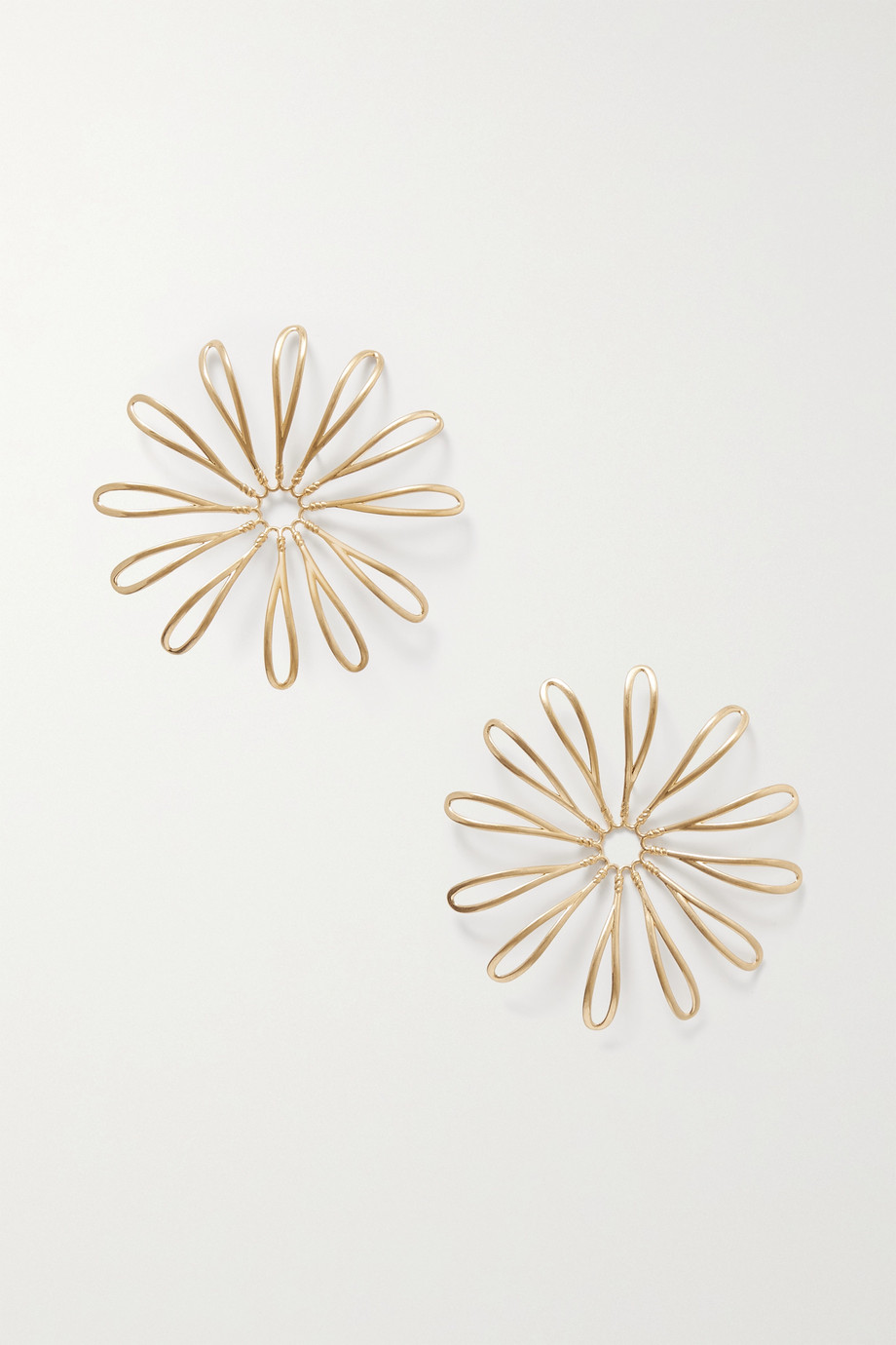 Jacquemus Les Fleurs gold-tone earrings