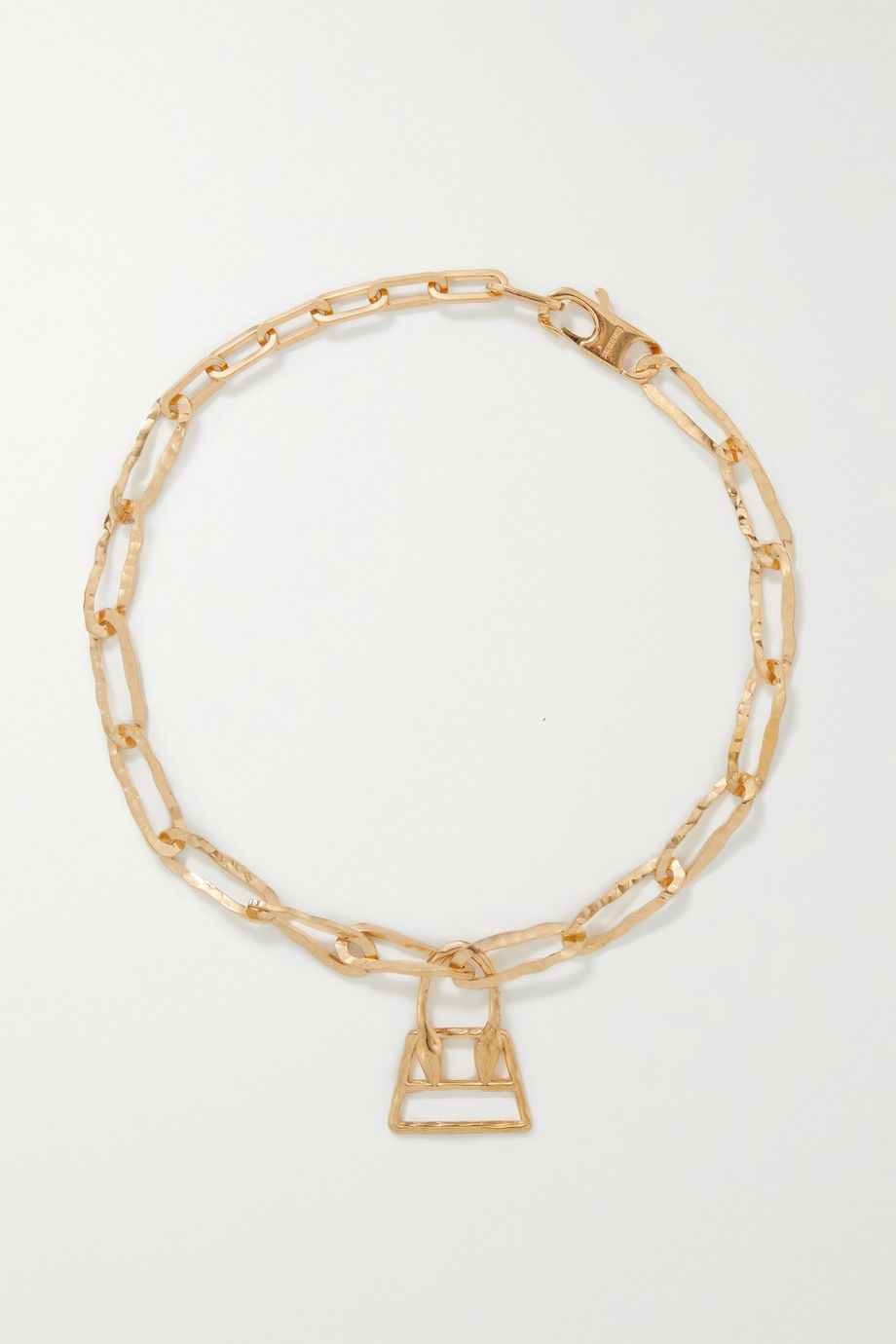 Jacquemus Le Chiquita hammered gold-tone necklace