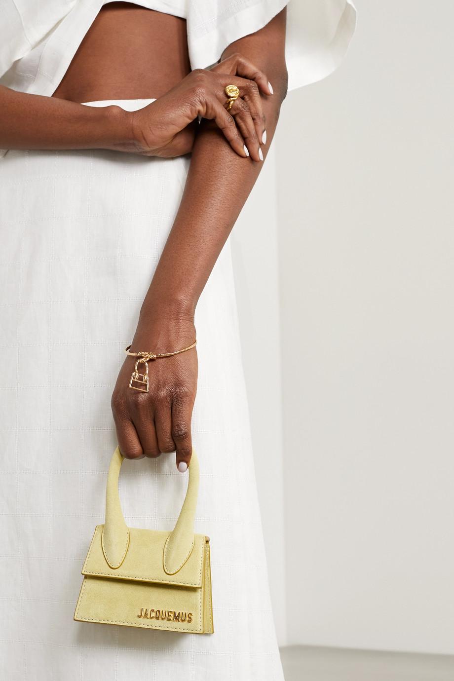 Jacquemus Le Chiquita hammered gold-tone bracelet