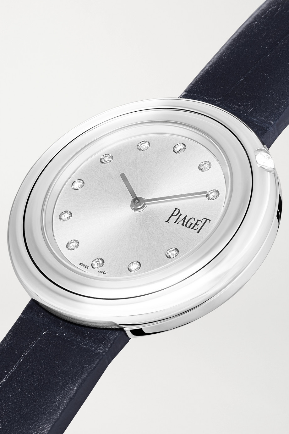 Piaget Possession 34mm stainless steel, alligator and diamond watch