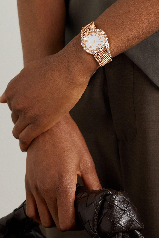 Piaget Limelight Gala 32mm 18-karat rose gold and diamond watch