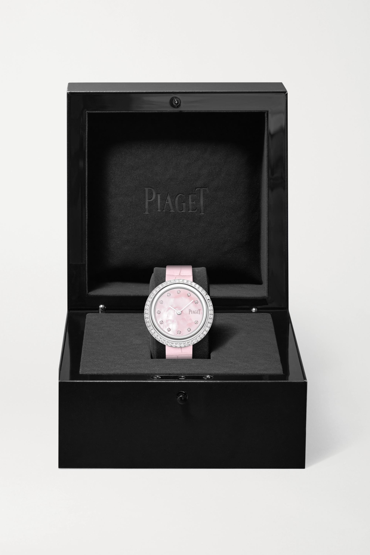 Piaget Possession 34mm 18-karat white gold, alligator and diamond watch