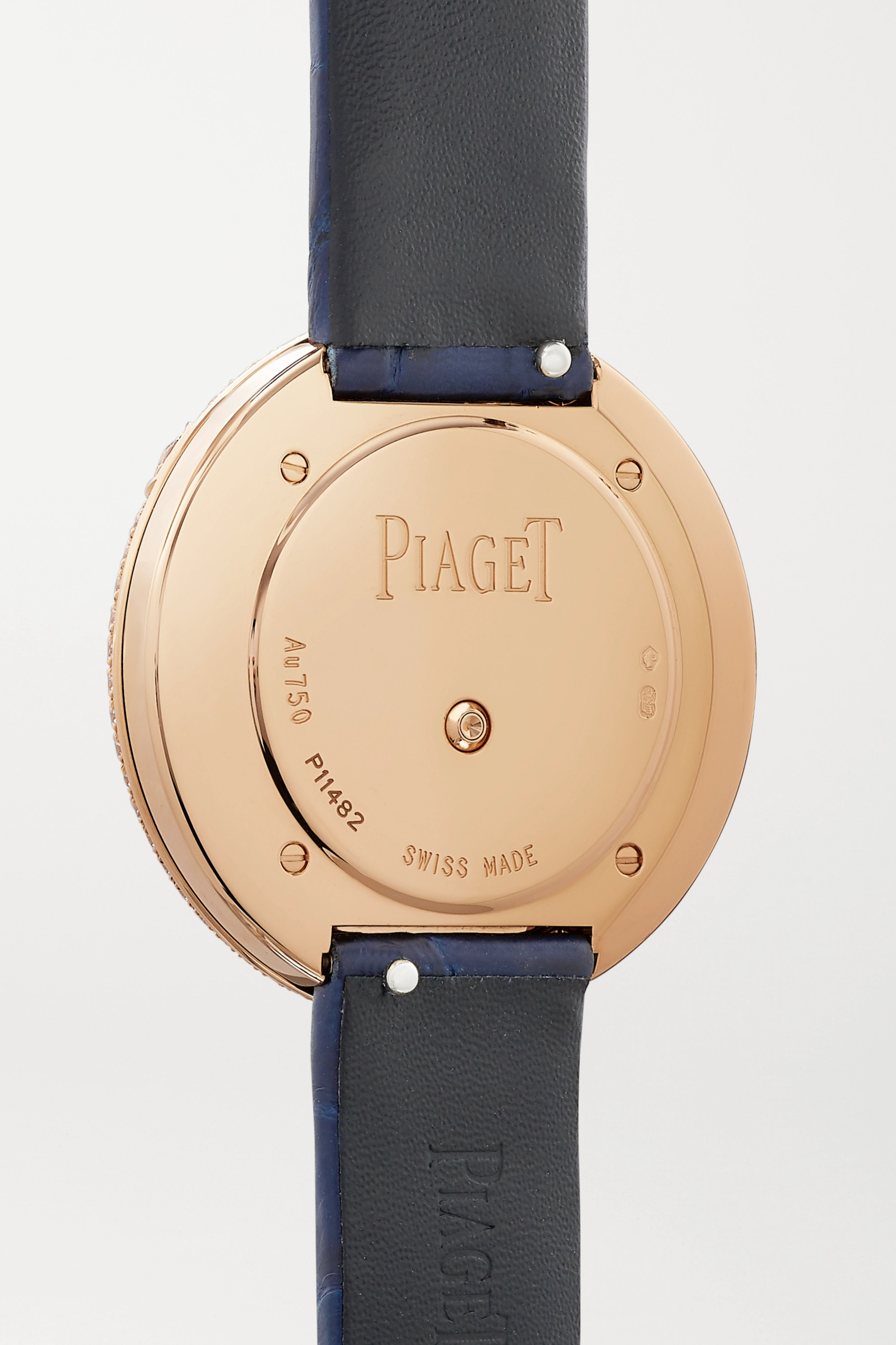 Piaget Montre en or rose 18 carats et diamants à bracelet en alligator Possession 34 mm