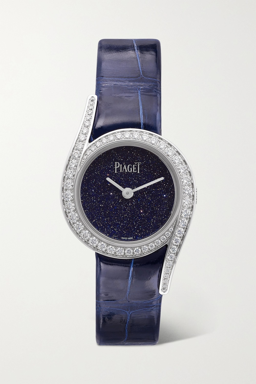 Piaget Limelight Gala Limited Edition 26mm 18-karat white gold, alligator and diamond watch