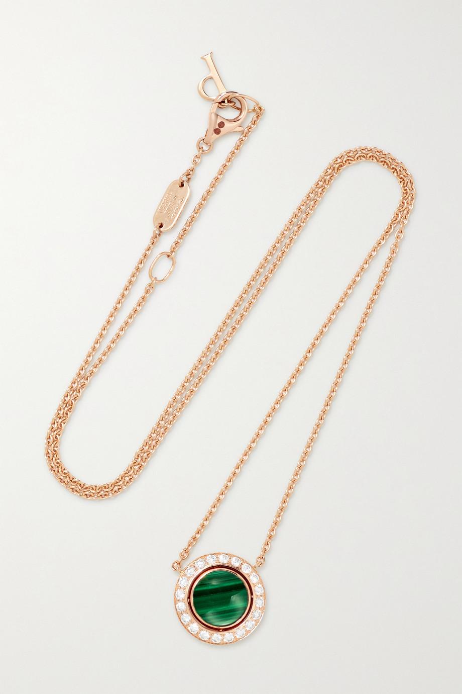 Piaget Possession Kette aus 18 Karat Roségold mit Malachit und Diamanten