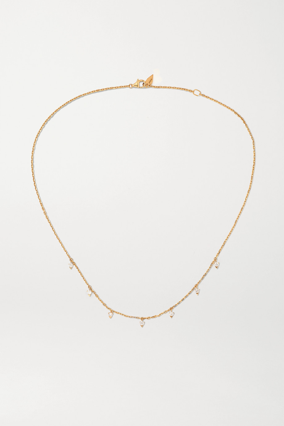 Piaget Sunlight 18-karat rose gold diamond necklace