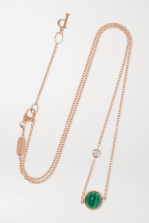 Piaget Collier en or rose 18 carats, malachite et diamant Possession