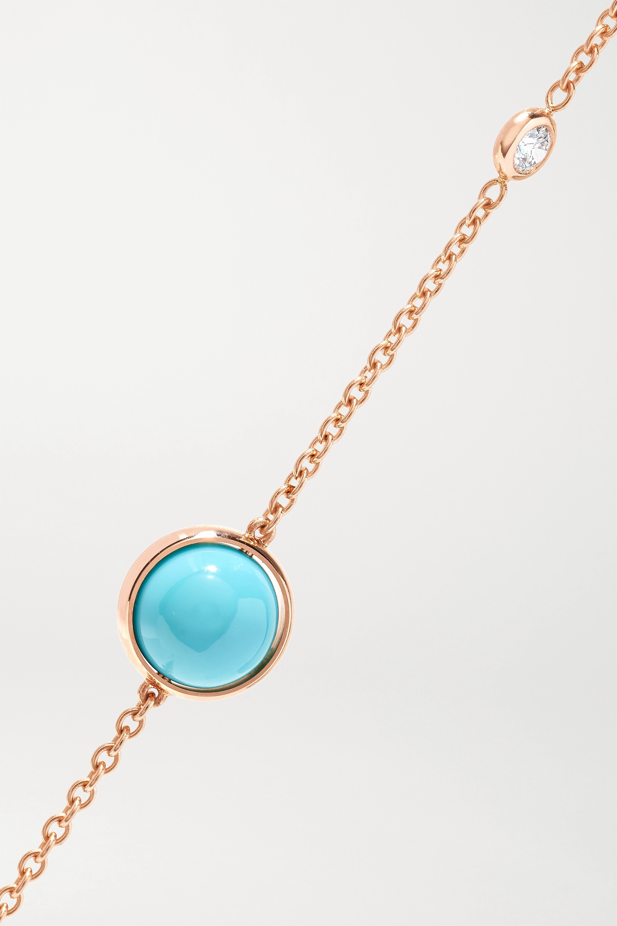 Piaget Collier en or rose 18 carats, turquoise et diamant Possession