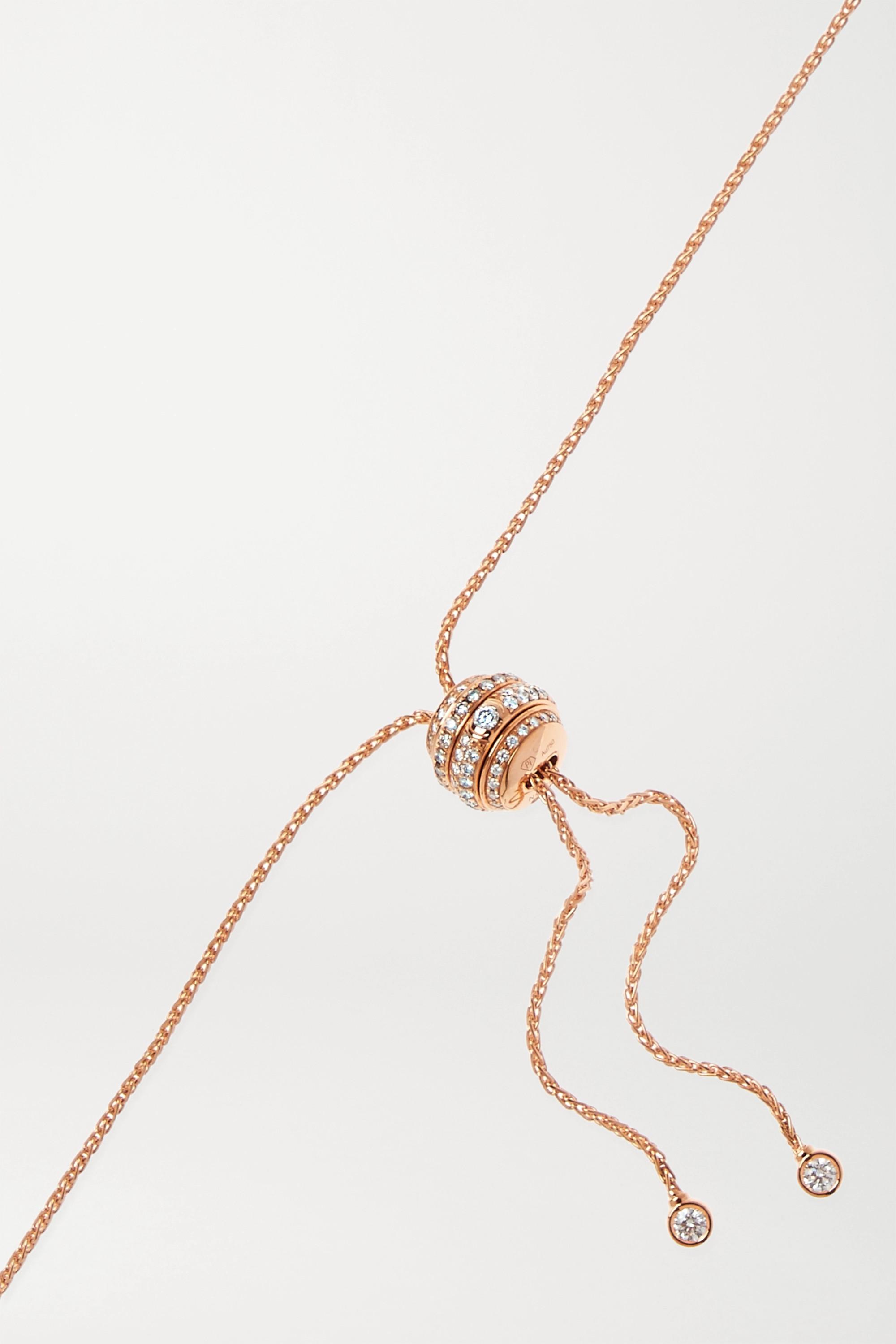 Piaget Collier en or rose 18 carats et diamants Possession
