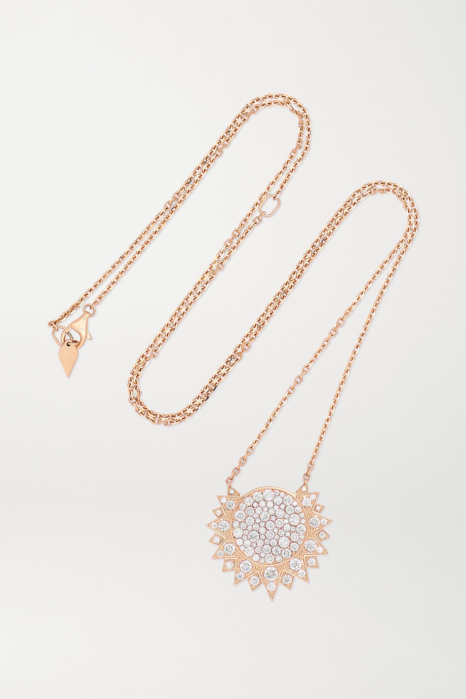 Piaget Sunlight 18K 玫瑰金钻石项链
