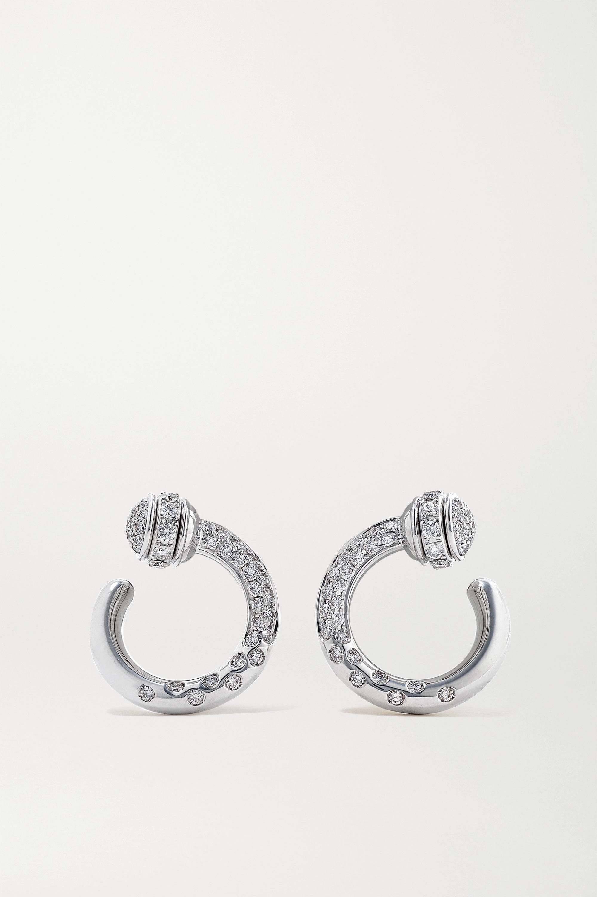 Piaget Boucles d'oreilles en or blanc 18 carats et diamants Possession