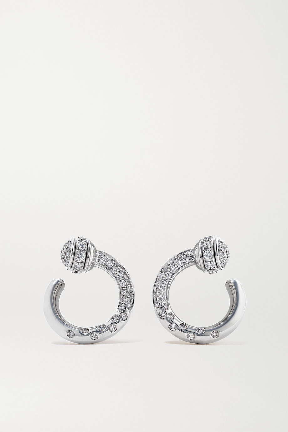 Piaget Possession 18-karat white gold diamond earrings