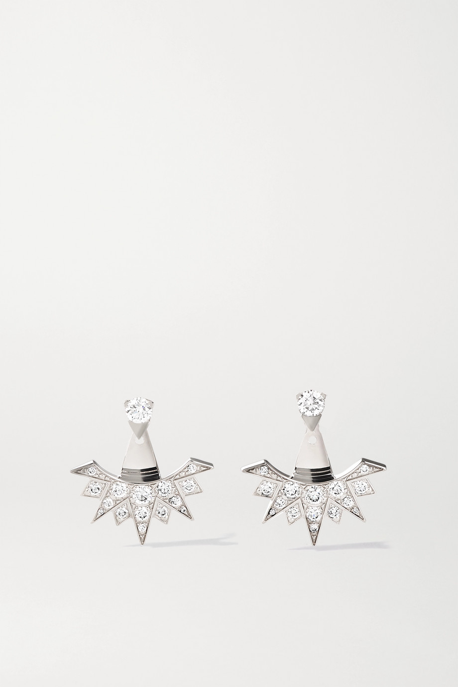 Piaget Sunlight 18-karat white gold diamond earrings