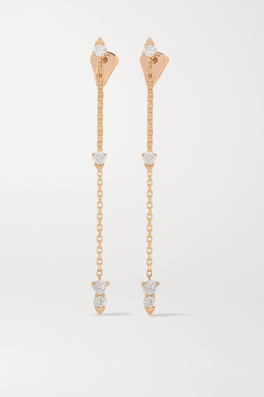 Piaget Sunlight 18-karat rose gold diamond earrings