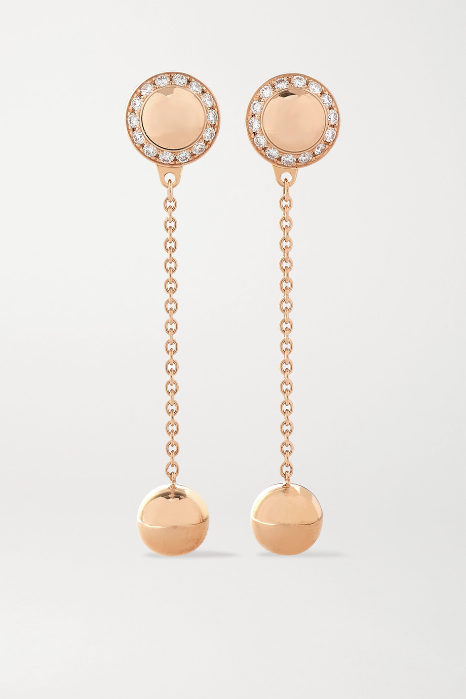 Piaget Possession 18-karat rose gold diamond earrings